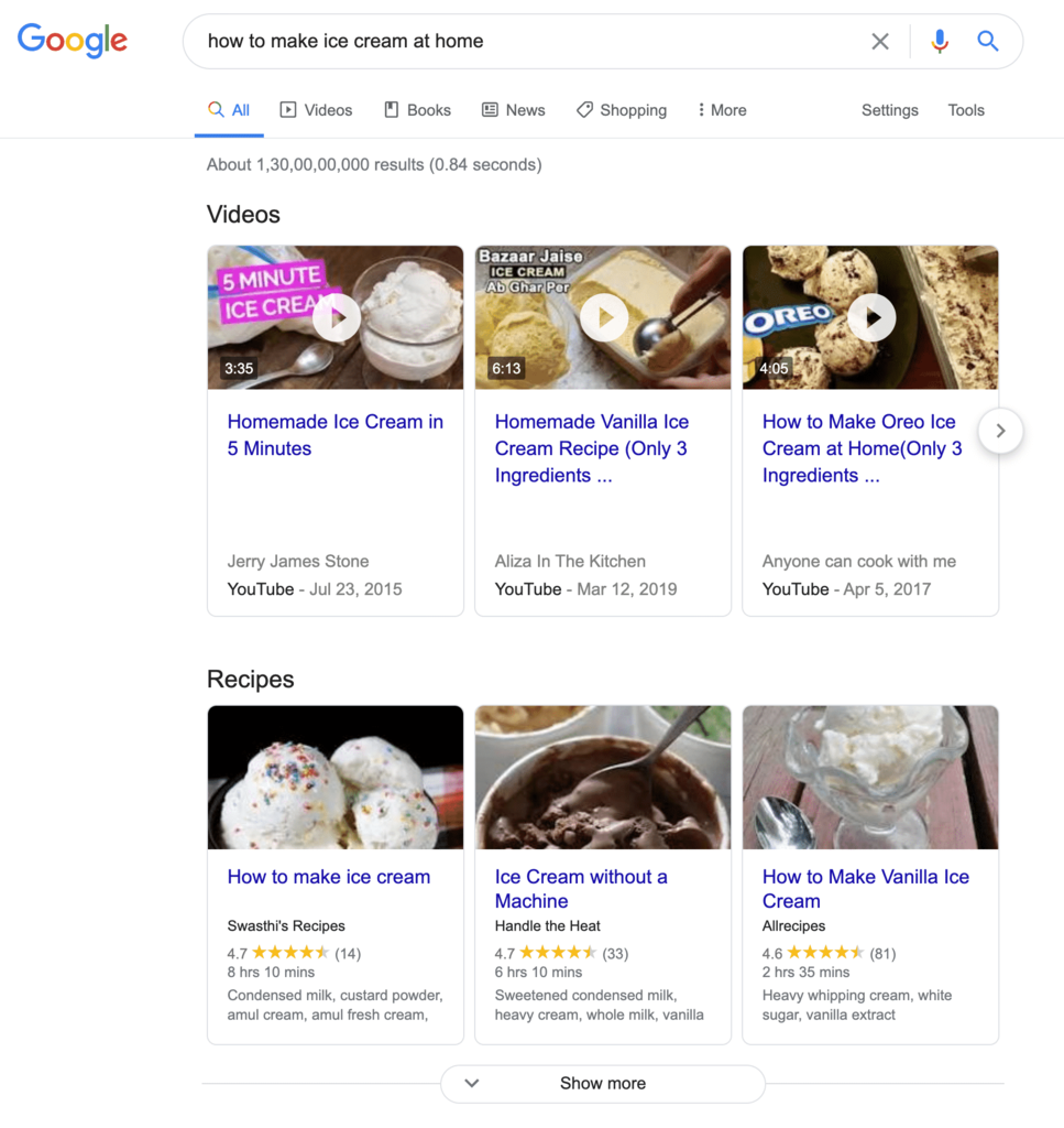 Google Rich Snippets.